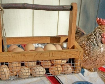 BURLIN Egg Basket, Bitty BURLIN Garden Harvesting Basket
