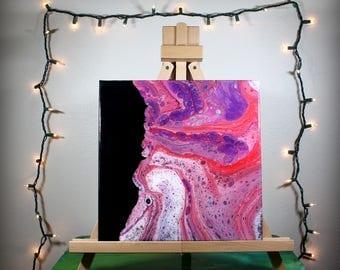 multicolor fluid acrylic painting - 12x12 - OOAK, fluid art, acrylic painting, abstract, square, painting, acrylic, fluid painting, flow art