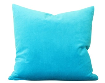Turquoise Velvet Pillow Cover