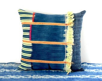 baule cushion, baoule cushion, african cushion, african pillow, indigo pillow, ethnic pillow, ethnic cushion, ooak