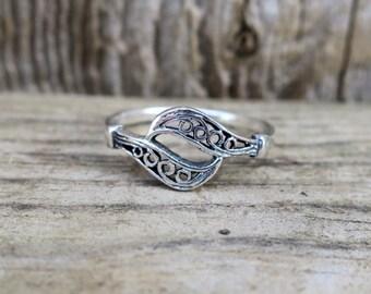 Vintage 925 Sterling Silver Filigree Ring
