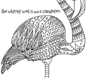 Digital Download Bird Coloring Pages - Adult Coloring Pages - Bird Art