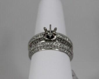 18K White Gold Diamond Wedding Set