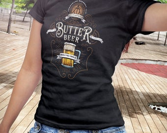 T Shirt of my Butter Drink art inspired label design beer book novel film clothing design for Men and Women by Barrett Biggers