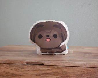 Brown Mocha Shih Tzu Pillow