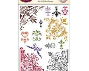 ORNATE CORNER STAMPS, Corner Stamps, Scroll Stamps, Baroque Stamps, Ornate Scroll Stamps, Ornate Corner Stamps, Ornate Corners