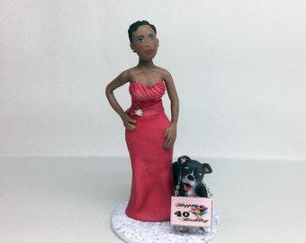 Custom Birthday Cake Topper *Handmade from Polymer Clay