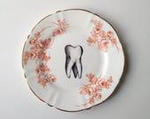 Vintage Victorian Tooth Plate Altered Art dental dentist teeth