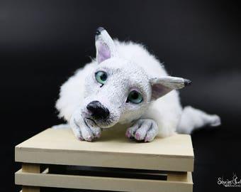 Tundra the Arctic Fox OOAK Plush Art Doll