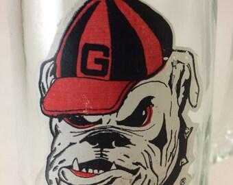 Georgia Bulldogs vintage glass stein vase pitcher College Sports University of Georgia