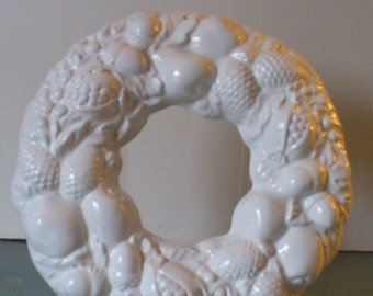 Vintage Made in Italy Wreath  Wall Hanging