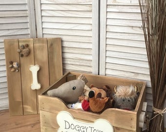 Wooden Doggy Toy Box - Handmade, unique and totally GORGEOUS!