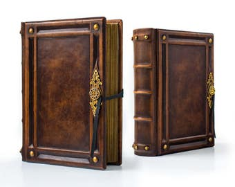 """8"""" x 10"""" - Large Leather Journal - 700 pages - unique journal, special gift, leather sketchbook, unique notebook"""