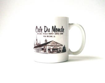 vintage Cafe Du Monde coffee mug, Cafe Du Monde coffee mug, New Orleans mug, New Orleans souvenir mug, collectible mug, restaurant mug