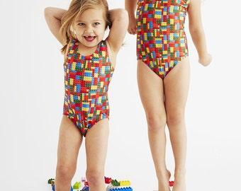 LEGO: Girl's Tank Swimsuit