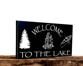 Welcome Sign, Cabin Decor, Lake Sign, Lake House Decor, Lake House Art, Rustic Wall Art, Housewarming Gift Idea, Rustic Sign, Gift For Him