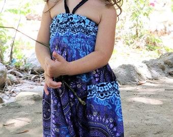 Childrens Harem Pants, Elephant Pants, Thai Pants, Rayon Pants, Boho Pants, Elastic Waist, Baggy, Beach, Casual wear for kids 1 - 3 Yrs.