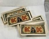 AC/DC Geld spricht / Angus Böcke / Angus Young-Dollar-Scheine / authentische Angus Böcke / / Konzert Erinnerungsstücke