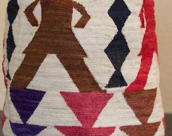 Sisal Art Bag Tightly Handwoven Natural Fiber Tote Collectible