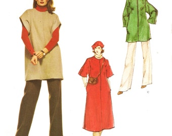 Vogue 1520 Misses' Retro 1970s Dress, Pants and Tunic Desgned by Givenchy Sewing Pattern