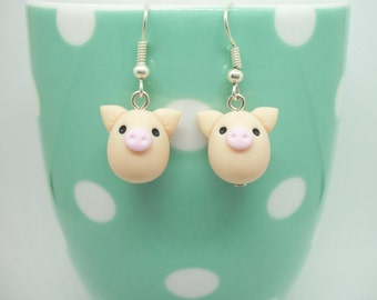 Lucky pig polymer clay earrings