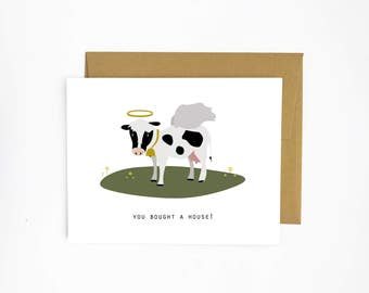 Holy Cow - New House Card