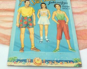 Paper Dolls Book, UNCUT- June & Stu Erwin, Troubles with Father TV Show - Vintage - Fabulous!