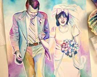 CUSTOM 50th ANNIVERSARY GIFT for parents, photo to painting, wedding anniversary gift, wedding gift for parents ideas, wedding parents gift
