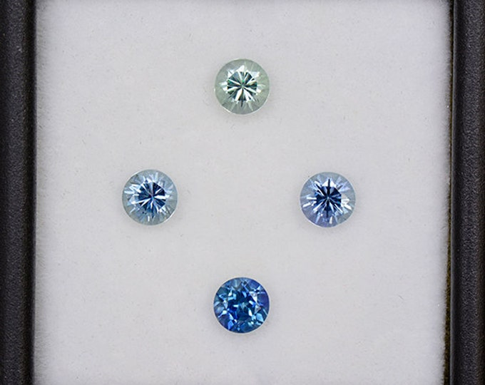UPRISING SALE! Superb Blue Sapphire Gemstone Set from Montana 1.41 tcw.