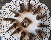 Victorian HARDWARE HOOKS a baker's dozen