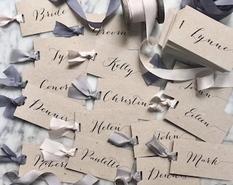 Wedding Place Cards, Place Cards, Place Card, Blush Place Cards, Luggage Tags, Wedding Luggage Tags, Calligraphy Place Cards