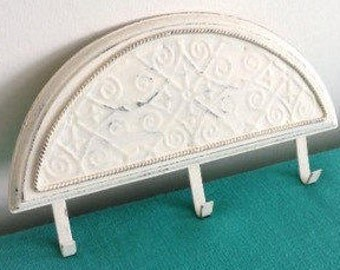 Shabby Chic Antique White Decorative Hook Key Hanger