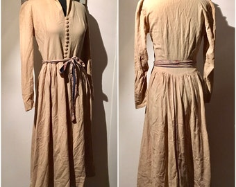 1950s does Victorian Cream Wool Dress Med. Lg