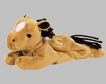 Ty Vintage Beanie Baby - Retired - Derby Horse - 4th Generation - 1995 - Mint Condition