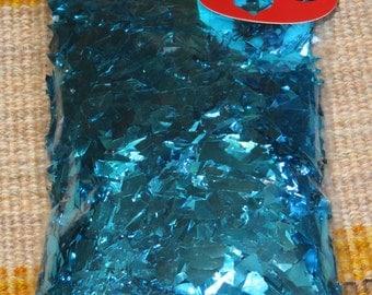 Ornament crumb,large,chunky cut, pvc glitter flakes,Aqua blue,Turquoise,3.5 oz,100gm,crafting,ornaments,Christmas