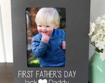 First Fathers Day Frame, First Fathers Day Gift, Daddy and Me Frame, Father Daughter, Daddy Daughter Gift, Husband Fathers Day Gift, New Dad