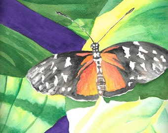 Butterfly, digital download, art print, watercolor painting, drawing, art, artwork, insects, greeting card, jas artwork