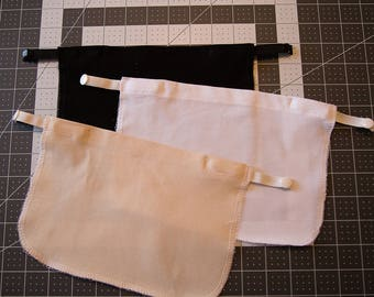Set Of Three Plain Modest Shirt Inserts, Clip On Cami, Cleavage Covers