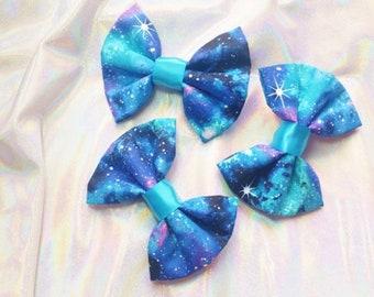 Handmade Galaxy Hair Bow / Lolita Fashion / ShonaMary Designs / Space