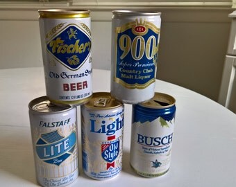 Vintage True Blue Beer Cans Instant Collection --- Retro Classic Tavern Pub Bar Home Decor --- Cool Curios Breweriana Collectables for Dad