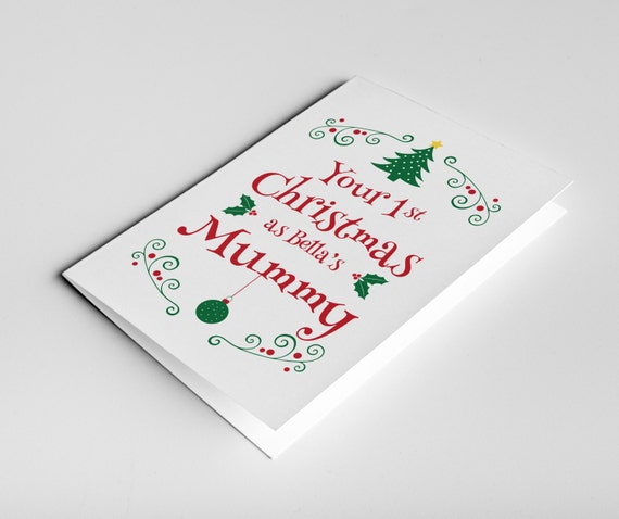 Mummy's 1st Christmas Card Mum Christmas Gift First