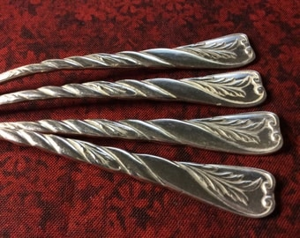 Set of 4 Reed and Barton Silver Plate Lobster/Nut Picks Le Louvre Pattern, Antique 1888 Flatware…