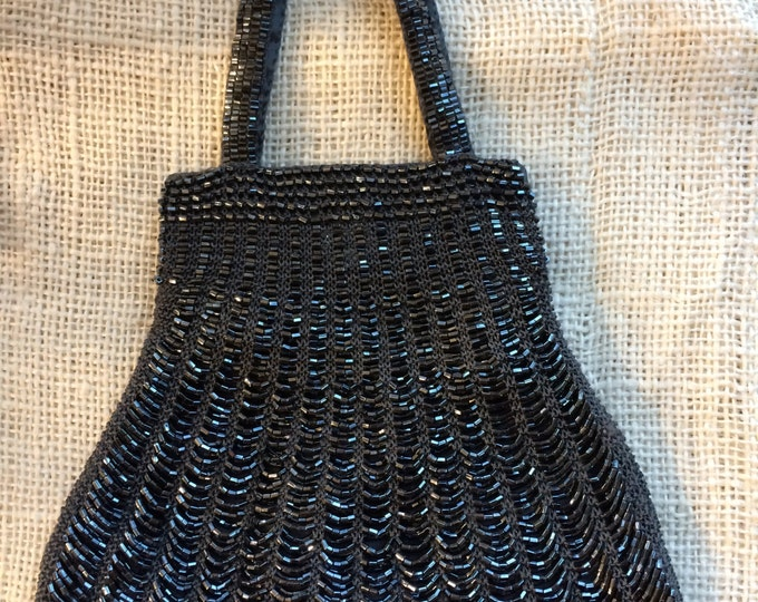 Hand Knit Beaded Purse