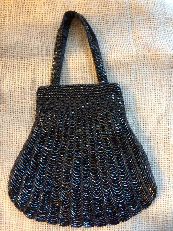 Hand Knit Beaded Purse
