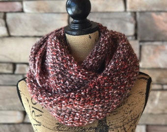 Infinity Scarf / Chunky Knit Cowl / Oversized Scarf / Infinity Knit Scarf / Gift For Her / Chunky Knit Scarf / Loop Scarf / Handmade Scarf