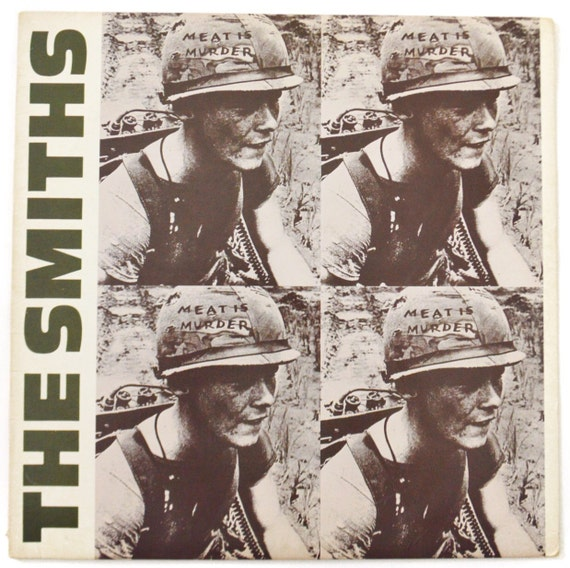 Vintage 80s The Smiths Meat Is Murder Album Record Vinyl LP