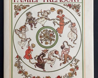 Kate Greenaway's Family Treasury- Illustrated Children's Book-Poetry, Nursery Rhymes, Mother Goose- 1979 Edition