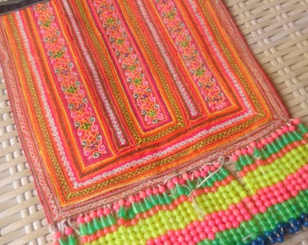 Vintage Hmong Ethnic Handmade embroidery delicate cross Stitch Hilltribe craft supplies