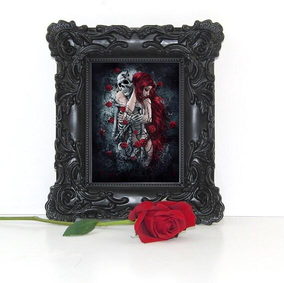 Gothic Art Print Gothic Wall Art Gothic Decor Gothic Woman