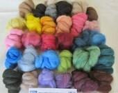 "Alpaca Roving Needle Felting Multi Color BIG ""Blender"" Pack - 32 Colors Totaling 3 Ounces of Fiber"